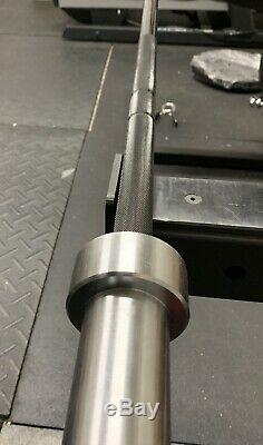 Zinc Noir Barbell Chrome Manches! 7ft X 2inch! Capacité 1200lb